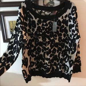 New Heather B. Animal print Sweater
